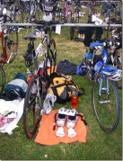 triathlon ironman transition tips advice set-up race