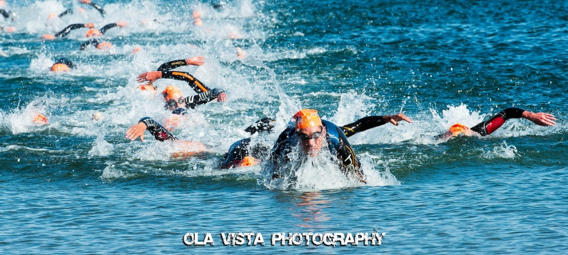open water swim triathlon first out of the water ola vista photography flickr